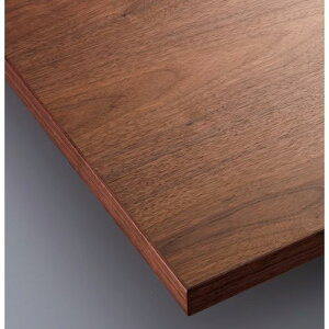 【受注生産品】CHERRY(チェリーレスタリア) テーブル天板 ウォールナット突板・木縁巻き ストレートタイプ 幅900×奥行600mm/業務用/新品/送料無料