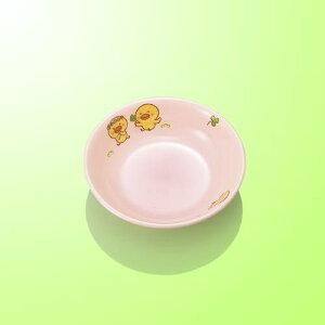子供食器 10cm丸深皿 ひよこぐみピンク/新品/業務用