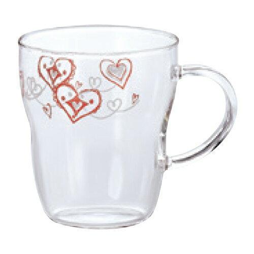 【エルベール 生活雑貨 耐熱マグカップ(ハート柄)】 高さ95(mm)【飲食店】【業務用】【グループP】