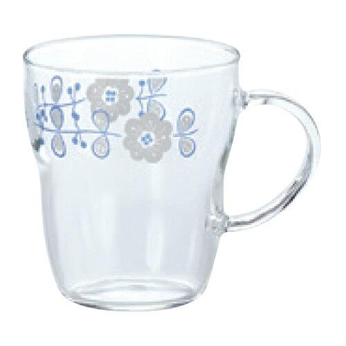 【エルベール 生活雑貨 耐熱マグカップ(フラワー柄)】 高さ95(mm)【飲食店】【業務用】【グループP】