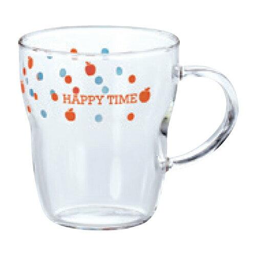 【エルベール 生活雑貨 耐熱マグカップ(ドット柄)】 高さ95(mm)【飲食店】【業務用】【グループP】