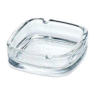 灰皿 スクエアー ガラス クリア P-05536/業務用/新品