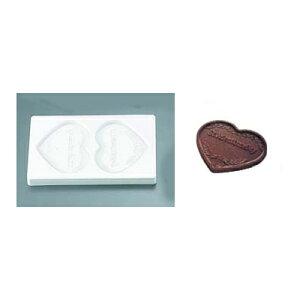 チョコレート流し型 ハート No.1306 2pcs/業務用/新品