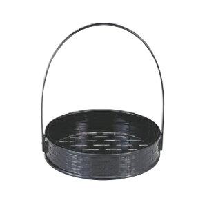 かご 5.5寸一閑張籠黒(折畳式) 高さ206 直径:170/業務用/新品