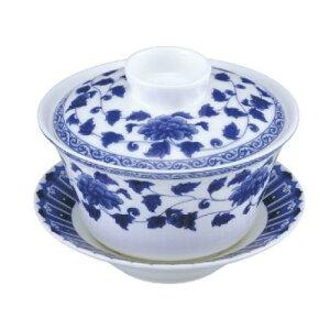 富貴草 白磁器 蓋碗セット カンダ 高さ82(mm)/プロ用/新品