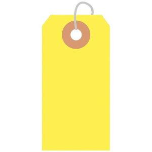 カラー荷札 豆 黄 一穴 2000P/2000枚×1箱/業務用/新品
