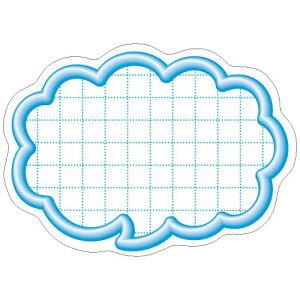 抜型カード 立体枠 吹出し 小 ブルー/50枚×5冊入/業務用/新品