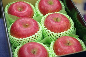 岩手純情ふじりんご通販 みつ姫・純蜜倶楽部の糖度15度お歳暮サンふじりんごを販売取寄。小箱 約5玉〜約6玉 岩手県産