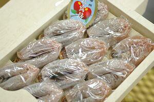 枯露柿ころがき 山梨県松里をお歳暮干し柿に。化粧箱 450g 約8個〜約12個