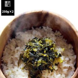【メール便 送料100円】 福岡県産 からし高菜 油炒め 250g×2袋セット