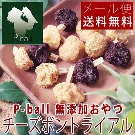 P-ball無添加おやつチーズボントライアル12本入【メール便送料無料犬用おやつペットドッグフードピーボール】