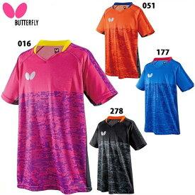 名入れ刺繍OK! バタフライ 卓球ウェア ゲームシャツ エルクレスト・シャツ 45440