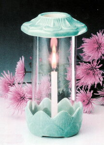 墓参用品 光明灯 小型のローソク立て ガラス製 陶器製 軽量 お手軽 お墓の灯明 火立 蝋燭 風よけ 風防 小型 小さい お墓参り 彼岸 お盆 ●お仏壇・仏具の浜屋