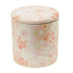 ミニ骨壷 桜ころも ピンク 2寸 シリコンパッキン付 骨壺 骨ツボ 骨つぼ 分骨 遺骨 小さい ミニ 骨入れ 国産 コンパクト 小型 納骨 花柄 春 ピンク パール 女性 桜 さくら 綺麗 上品 かわいい