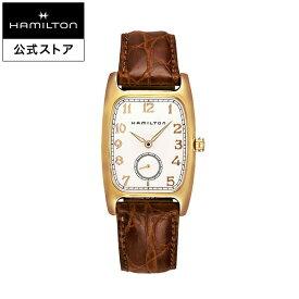 ハミルトン 公式 腕時計 HAMILTON American Classic Boulton アメリカンクラシック ボルトン クオーツ クォーツ 27.00MM レザーベルト ホワイト × ブラウン H13431553 メンズ腕時計 男性 正規品 ブランド ビジネス シンプル