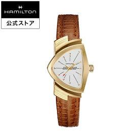 ハミルトン 公式 腕時計 HAMILTON Ventura ベンチュラ クオーツ クォーツ 24.00MM レザーベルト ホワイト × ブラウン H24101511 レディース腕時計 女性 正規品 ブランド