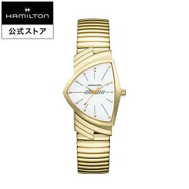 ハミルトン 公式 腕時計 HAMILTON Ventura ベンチュラ クオーツ クォーツ 32.30MM ステンレススチールブレス ホワイト × イエローゴールド H24301111 メンズ腕時計 男性 正規品 ブランド