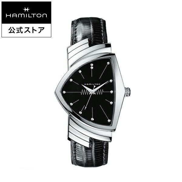 ハミルトン 公式 腕時計 Hamilton Ventura ベンチュラ メンズ レザー | 正規品 時計 メンズ腕時計 ブランド クォーツ 革ベルト ペアウォッチ ウォッチ ペア おしゃれ 男性腕時計 クオーツ 革 男性 シルバー ベンチュラー 黒 クウォーツ 17mm カジュアル 男性用腕時計