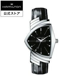ハミルトン 公式 腕時計 HAMILTON Ventura ベンチュラ クオーツ 32.30MM レザーベルト ブラック × ブラック H24411732 メンズ腕時計 男性 正規品 ブランド