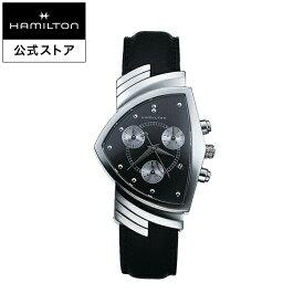 ハミルトン 公式 腕時計 HAMILTON Ventura ベンチュラ クオーツ 32.30MM レザーベルト ブラック × ブラック H24412732 メンズ腕時計 男性 正規品 ブランド