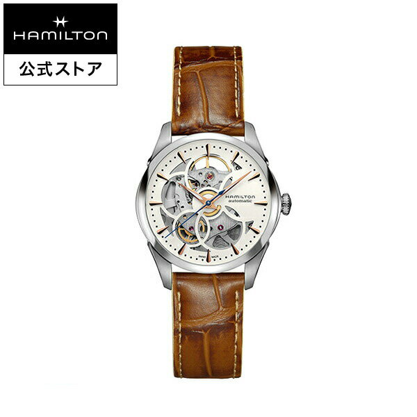 【ハミルトン 公式】 Hamilton Jazzmaster Viewmatic Skeleton Lady ジャズマスター スケルトン レディ レディース レザー | 腕時計 時計 女性 女性用腕時計 レディース腕時計 ブランド腕時計 うでとけい レザーベルト 革 レディースウォッチ 女性腕時計 watch おしゃれ