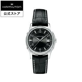 ハミルトン 公式 腕時計 HAMILTON Jazzmaster Gent ジャズマスター ジェント クオーツ 38.00MM レザーベルト ブラック × ブラック H32411735 メンズ腕時計 男性 正規品 ブランド ビジネス シンプル