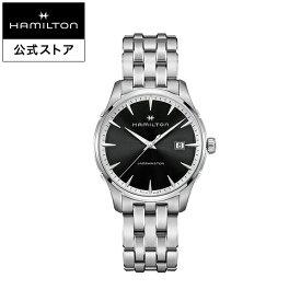 Hamilton ハミルトン 公式 腕時計 Jazzmaster Gent ジャズマスター ジェント メンズ メタル H32451131 | 正規品 時計 メンズ腕時計 ブランド ブレスレットウォッチ クォーツ ビジネス watch クオーツ シンプル 男性 オフィス プレゼント スーツ 黒 20mm 黒文字盤 モダン