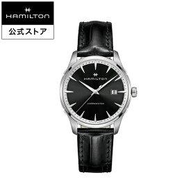 ハミルトン 公式 腕時計 HAMILTON Jazzmaster Gent ジャズマスター ジェント クオーツ 40.00MM レザーベルト ブラック × ブラック H32451731 メンズ腕時計 男性 正規品 ブランド ビジネス シンプル