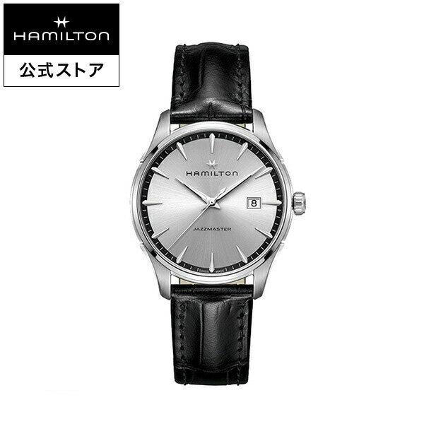 Hamilton ハミルトン 公式 腕時計 Jazzmaster Gent ジャズマスター ジェント メンズ レザー H32451751 | 正規品 時計 メンズ腕時計 ブランド ウォッチ ビジネス うでとけい 男性腕時計 男性 オフィス プレゼント 20代 メンズウォッチ 男性用腕時計 30代 ブラック クォーツ