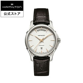 ハミルトン 公式 腕時計 HAMILTON Jazzmaster Day Date ジャズマスター デイデイト オートマティック 自動巻き 40.00MM レザーベルト ホワイト × ブラウン H32505511 メンズ腕時計 男性 正規品 ブランド ビジネス シンプル
