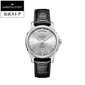 ハミルトン 公式 腕時計 HAMILTON Jazzmaster Day Date ジャズマスター デイデイト オートマティック 自動巻き 40.00MM レザーベルト シルバー × ブラック H32505751 メンズ腕時計 男性 正規品 ブランド ビジネス シンプル