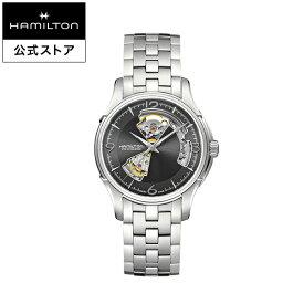 ハミルトン 公式 腕時計 HAMILTON Jazzmaster Open Heart ジャズマスター オープンハート オートマティック 自動巻き 40.00MM ステンレススチールブレス グレー × シルバー H32565185 メンズ腕時計 男性 正規品 ブランド ビジネス シンプル