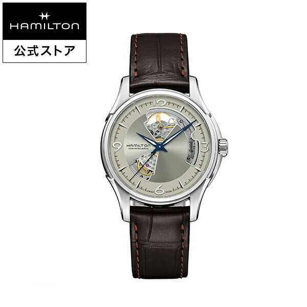 Hamilton ハミルトン 公式 腕時計 Jazzmaster Open Heart ジャズマスター オープンハート メンズ レザー   正規品 時計 メンズ腕時計 ブランド 機械式自動巻 ウォッチ 革ベルト ブラウン ビジネス 機械式 watch 男性 スイス シルバー文字盤 男性用腕時計