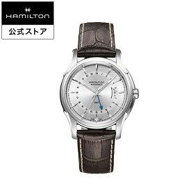 ハミルトン 公式 腕時計 Hamilton Jazzmaster GMT ジャズマスター GMT メンズ レザー | 正規品 時計 メンズ腕時計 機械式自動巻 ギフト 革ベルト ブラウン ウォッチ 防水 機械式 42mm おしゃれ 男性腕時計 革 男性 10気圧防水 メンズ時計 シルバー文字盤