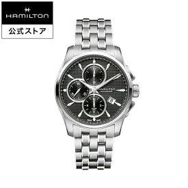 Hamilton ハミルトン 公式 腕時計 Jazzmaster Auto Chrono ジャズマスター オートクロノ メンズ メタル H32596131 | 正規品 時計 メンズ腕時計 ブランド ブレスレットウォッチ クロノグラフ 自動巻き 防水 ビジネス 機械式 watch 男性 シルバー 黒 10気圧防水 男性用腕時計