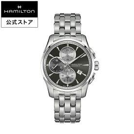 ハミルトン 公式 腕時計 HAMILTON Jazzmaster Auto Chrono ジャズマスター オート クロノ オートマティック 自動巻き 42.00MM ステンレススチールブレス グレー × シルバー H32596181 メンズ腕時計 男性 正規品 ブランド ビジネス シンプル