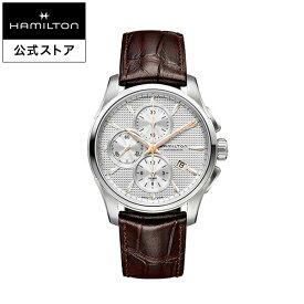 ハミルトン 公式 腕時計 HAMILTON Jazzmaster Auto Chrono ジャズマスター オート クロノ オートマティック 自動巻き 42.00MM レザーベルト シルバー × ブラウン H32596551 メンズ腕時計 男性 正規品 ブランド ビジネス シンプル