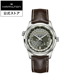 ハミルトン 公式 腕時計 Hamilton JM GMT D A42-gr-l-bw ジャズマスター GMT メンズ レザー | 正規品 時計 ギフト メンズ腕時計 ブランド 自動巻き 革ベルト パワーリザーブ 機械式 22mm 男性腕時計 革 オートマティック オートマチック 機械式腕時計 男性 ブラウン