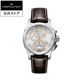 Hamilton ハミルトン 公式 腕時計 Jazzmaster Chrono Quartz ジャズマスター クロノ クォーツ メンズ レザー H32612555 | 正規品 時計 メンズ腕時計 革ベルト ウォッチ おしゃれ クオーツ レザーベルト メンズ時計 男性用腕時計 ブラウン ギフト