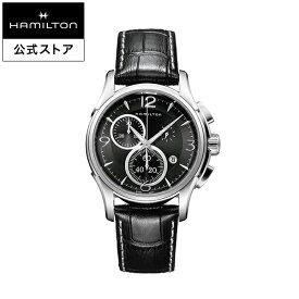 ハミルトン 公式 腕時計 Hamilton Jazzmaster Chrono Quartz ジャズマスター クロノ クォーツ メンズ レザー | 正規品 時計 メンズ腕時計 クロノグラフ 革ベルト ウォッチ おしゃれ watch クオーツ 革 メンズ時計 黒 10気圧防水 ブラックバンド 男性用腕時計
