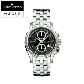 ハミルトン 公式 腕時計 HAMILTON Jazzmaster Auto Chrono ジャズマスター オート クロノ オートマティック 自動巻き 42.00MM ステンレススチールブレス ブラック × シルバー H32616133 メンズ腕時計 男性 正規品 ブランド