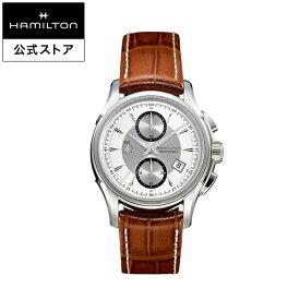【ハミルトン 公式】 Hamilton Jazzmaster Auto Chrono ジャズマスター オートクロノ メンズ レザー