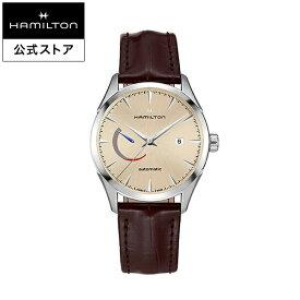 ハミルトン 公式 腕時計 HAMILTON Jazzmaster Power Reserve ジャズマスター パワーリザーブ オートマティック 自動巻き 42.00MM レザーベルト ベージュ × ブラウン H32635521 メンズ腕時計 男性 正規品 ブランド ビジネス シンプル