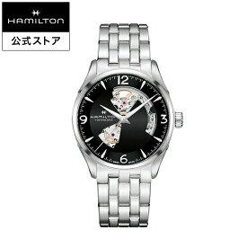 ハミルトン 公式 腕時計 HAMILTON Jazzmaster Open Heart ジャズマスター オープンハート オートマティック 自動巻き 42.00MM ステンレススチールブレス ブラック × シルバー H32705131 メンズ腕時計 男性 正規品 ブランド ビジネス シンプル