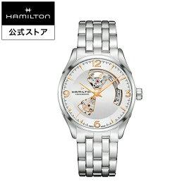 ハミルトン 公式 腕時計 HAMILTON Jazzmaster Open Heart ジャズマスター オープンハート オートマティック 自動巻き 42.00MM ステンレススチールブレス シルバー × シルバー H32705151 メンズ腕時計 男性 正規品 ブランド ビジネス シンプル