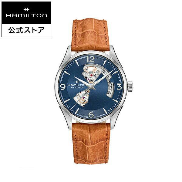 Hamilton ハミルトン 公式 腕時計 Jazzmaster Open Heart ジャズマスター オープンハート メンズ レザー H32705541 | 正規品 時計 メンズ腕時計 ブランド ベルト ウォッチ ビジネス 紳士時計 おしゃれ 男性腕時計 watch 男性 ウオッチ スイス 青文字盤 メンズウォッチ