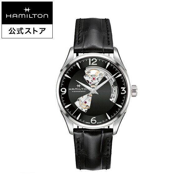 【ハミルトン 公式】 Hamilton Jazzmaster Open Heart ジャズマスター オープンハート メンズ レザー | 男性 腕時計 時計 ウォッチ ウオッチ watch うでとけい 紳士 ブランド メンズ腕時計 男性用腕時計 男性腕時計 メンズウォッチ ブランド腕時計 ベルト ビジネス ギフト
