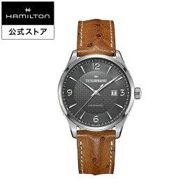 ハミルトン 公式 腕時計 HAMILTON Jazzmaster Viewmatic ジャズマスター ビューマティック オートマティック 自動巻き 44.00MM レザーベルト グレー × ブラウン H32755851 メンズ腕時計 男性 正規品 ブランド ビジネス シンプル