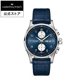 【エントリーでポイント5倍!12/4 20:00〜】ハミルトン 公式 腕時計 Hamilton Jazzmaster Maestro DD AC45-bu-l-bu ジャズマスター マエストロ メンズ レザー 正規品 時計 メンズ腕時計 ブランド クロノグラフ 自動巻き 革ベルト ウォッチ