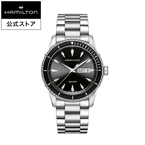 ハミルトン 公式 腕時計 Hamilton Jazzmaster Seaview Day Date ジャズマスター シービュー デイデイト メンズ メタル | 正規品 時計 メンズ腕時計 ブランド クォーツ ビジネス ブレスレット 10気圧防水 男性 シルバー クールビズ クオーツ 黒文字盤 スーツ ギフト 電池